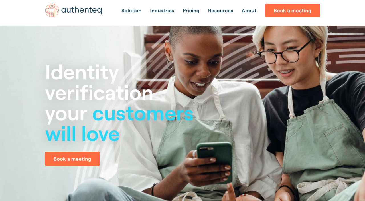 Authenteq-homepage